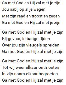 ga met god en hij zal met je zijn tekst